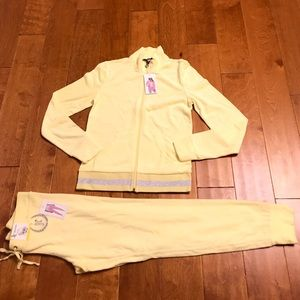 Juicy Couture citric yellow terry hoodie and pant